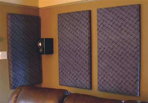 diy acoustic tiles sound proofing home theater for around 20 each there s no place like home