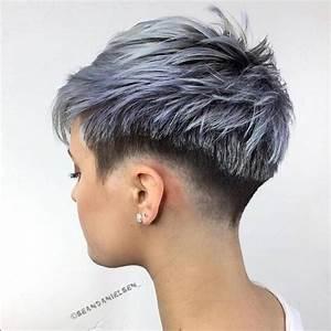 Grau Silber Haare : 13 trendy kurzhaarschnitte mit subtilen farbakzenten welche farbe w rdest du w hlen ~ Frokenaadalensverden.com Haus und Dekorationen