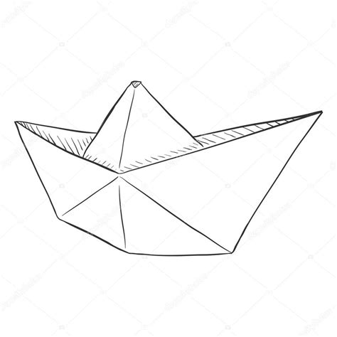 Origami Boat Drawing by Paper Boat Drawing Www Pixshark Images Galleries