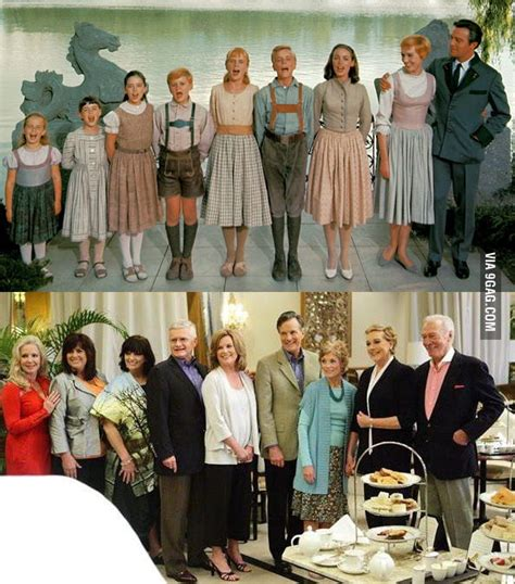 """From there, he acted in several daytime tv and movie roles. The reunion of """"The Sound of Music"""" family after 45 years... - 9GAG"""