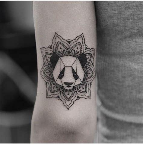 tattoo black panda mandala tattoo tattoos animal