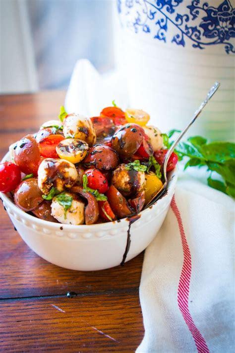 easy tomato mozzarella salad  sweet basil