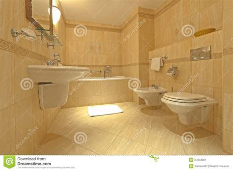 salle de bains avec le bidet et la carte de travail image stock image 27854981