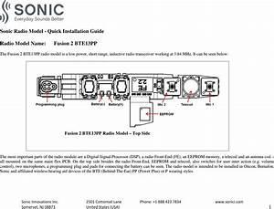 Sonic Innovations Fu2btepp Hearing Instrument With Short