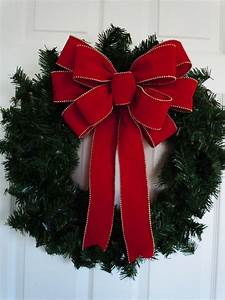 Items, Similar, To, 12, U0026quot, Red, Velvet, Christmas, Bow, Indoor, Outdoor, Large, Holiday, Bow, Red, And, Gold