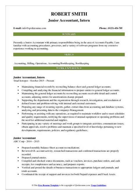 junior accountant resume sample bijeefopijburgnl