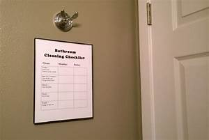 Chore Chart Checklist Diy Bathroom Cleaning Checklist Even Your Kids Can Follow