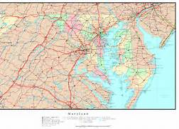 Maryland Counties Map - Map of us maryland