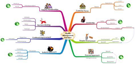 quality management principles  mind map