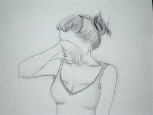 Easy Drawings Of Sketches Of Sad Girls - Drawing Of Sketch
