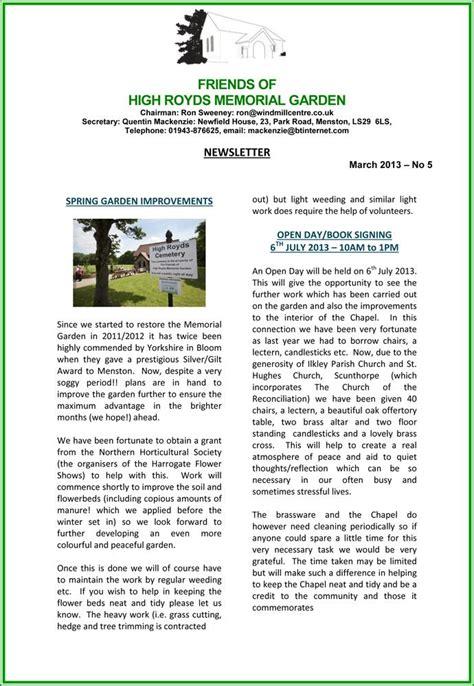 garden newsletter high royds memorial garden newsletter march 2013
