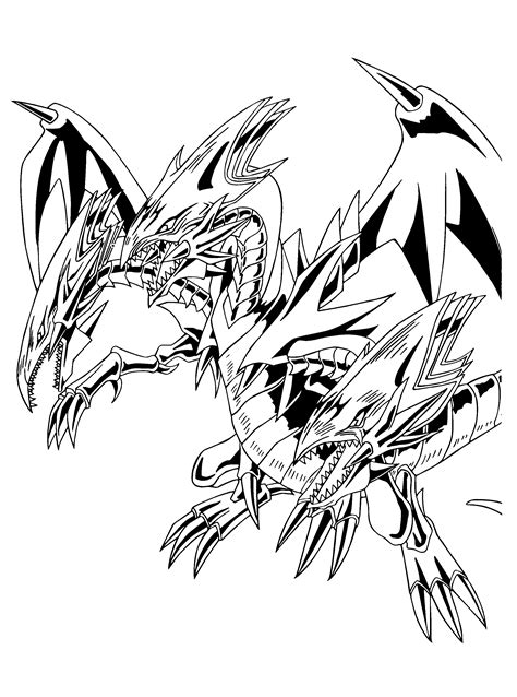 Coloring Drawings by Yu Gi Oh 17 Printable Coloring Pages