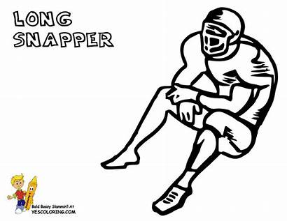 Coloring Football Snapper Pages Usa Yescoloring Teams