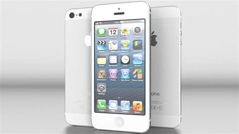 iphone 5 silver iphone 5 white silver vray 3d model max obj 3ds fbx