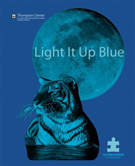 light it up blue t shirt for autism awareness thompson