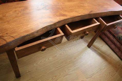 offshaped table console mangga wood leoque collection