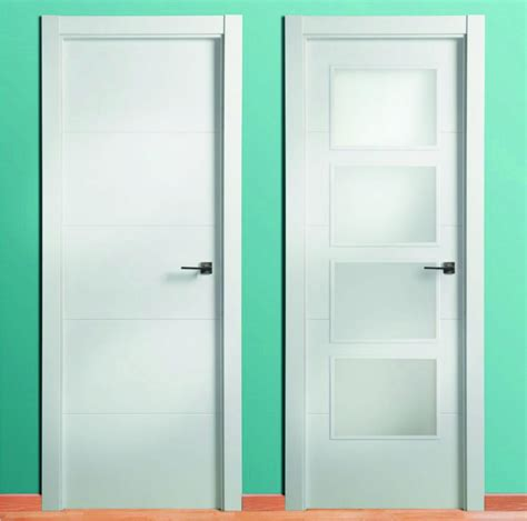 puerta lacada blanca  ranuras  catalogo maderas acuna