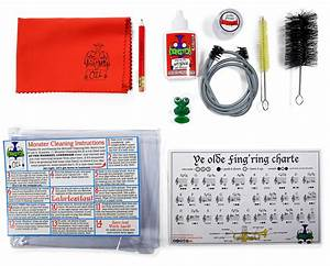 Trumpet Care  U0026 Cleaning Kit With Fingering Chart