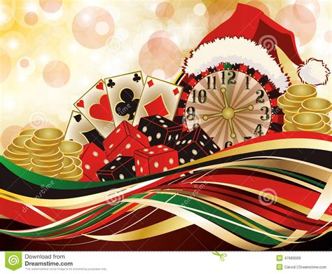 christmas casino greeting background stock vector image