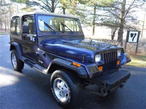 jeep navy blue 1994 jeep wrangler navy blue http www iseecars com used