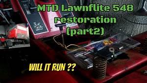 Mtd Lawnflite 548 Lawn Tractor Restoration  Part2   Wiring