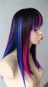 Black Ombre Rainbow Wigs