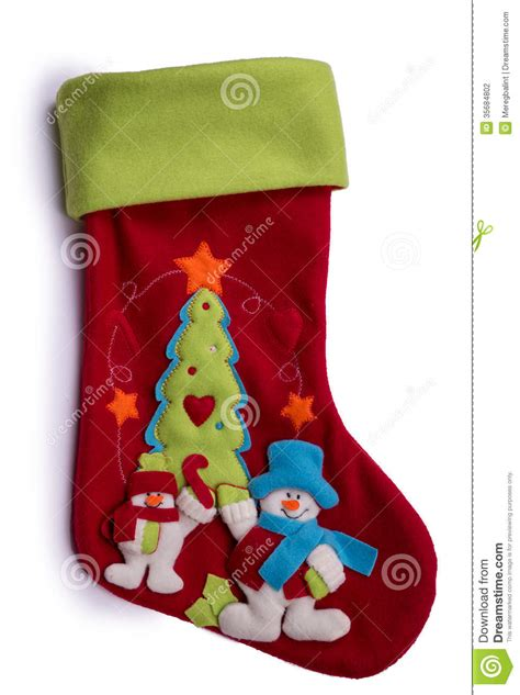 handmade christmas decorations felt santa boot stock