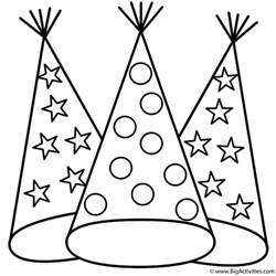 hats coloring page leap day