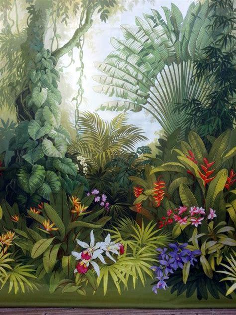 panel vorhang dschungel tropen jardin murale papier