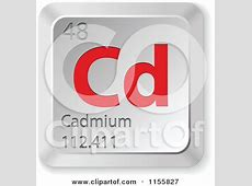 Clipart of a 3d Red and Silver Cadmium Chemical Element