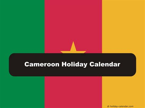 cameroon holiday calendar