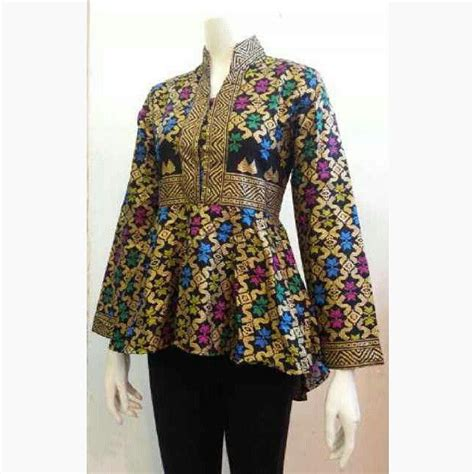 batik set cewek model baju batik kerja 1 fasion work models