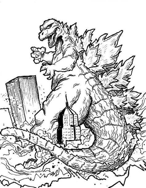 godzila  destroyera  coloring pages