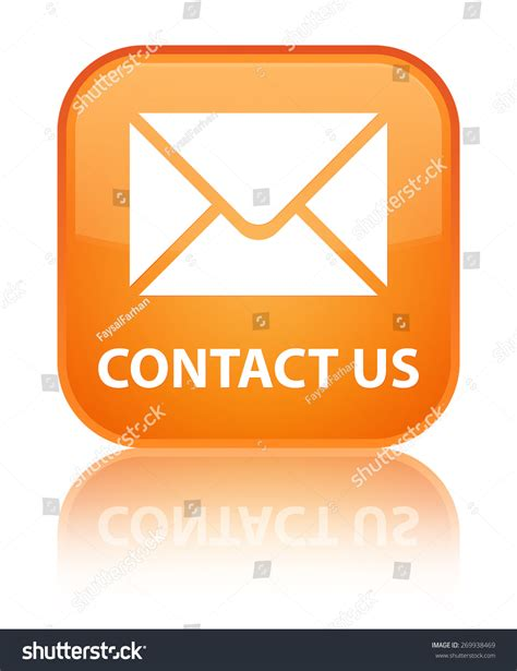contact us at email contact us email icon orange square stock illustration 269938469 shutterstock