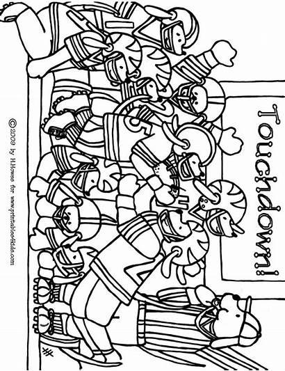 Coloring Pages Superbowl Bowl Super Popular