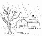 Flood Coloring Pages Disaster Natural Favorite Getdrawings sketch template