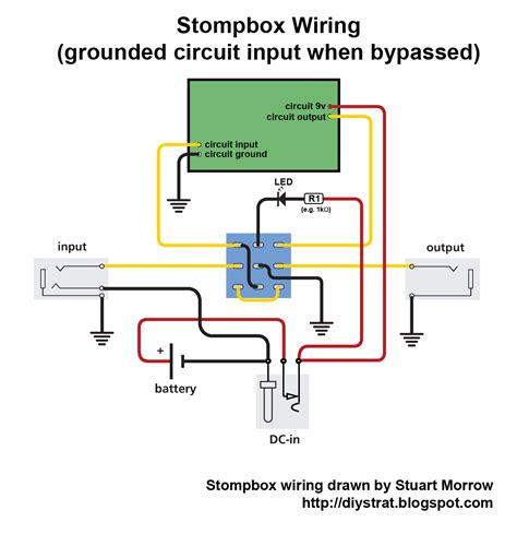 1 4 Input Wiring by How To Wire Up A Stomp Box Effects Pedal Diy Strat