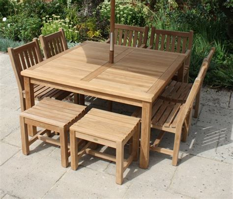 square outdoor dining table seats 8 square 8 seater garden table and chairs set