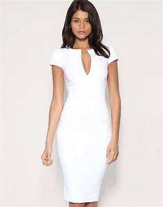2014 new hot women deep v neck bodycon slim pencil dress With robe trapeze blanche