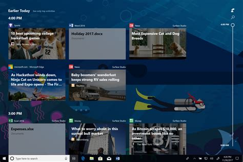 microsoft starts testing windows 10 s timeline and app