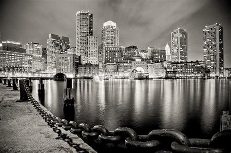 Photo Of The Moment Boston Harbor At Night Massachusetts