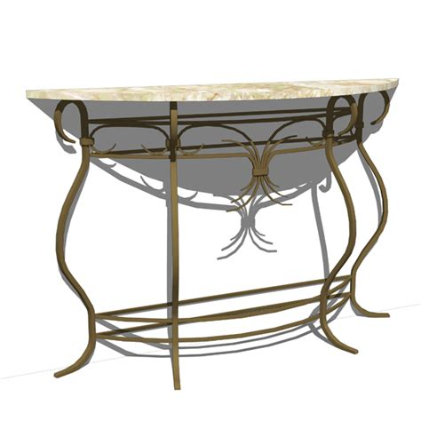 wrought iron console table 3d model formfonts 3d models