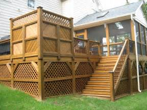 image of types of deck railing designs decks privacy deck wooden decks and decking