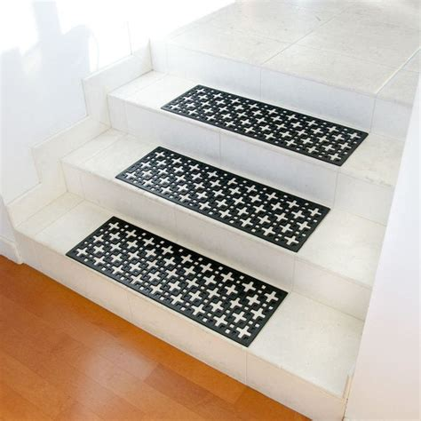 Step Doormat shop rubber cal quot quot recycled rubber step mat black