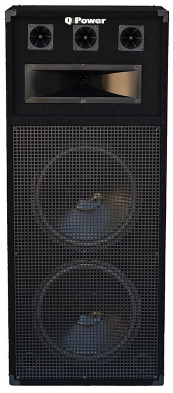 dj speaker box cabinet q power dj speaker cabinet 2 x 15