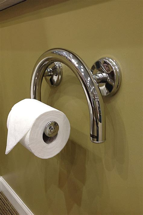 toilet paper holder  grab bar combination
