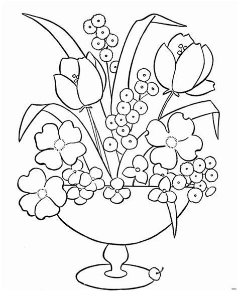 Flower Vase Coloring Pages at GetColorings com Free
