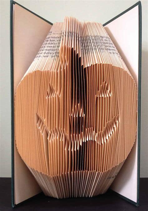 pumpkin halloween book folding pattern diy gift
