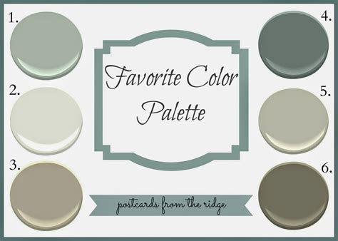 revere pewter favorite color palette postcards from