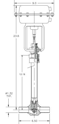 Cryogenic Valve Model C2081T-A22A